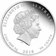 50 Cents - Elizabeth II (4th Portrait - 1918 The Eleventh of November) -  obverse