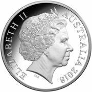 1 Dollar - Elizabeth II (2018 FIFA World Cup Russia - Silver Proof) -  obverse