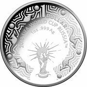1 Dollar - Elizabeth II (4th Portrait - 2018 FIFA World Cup Russia - Silver Proof) -  obverse