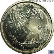 1 Dollar - Elizabeth II (4th Portrait - Bush Babies - Possum) -  reverse