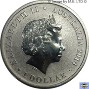 1 Dollar - Elizabeth II (4th Portrait - Banjo Patterson 150 Years) -  obverse