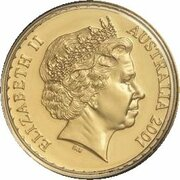 100 Dollars - Elizabeth II (4th Portrait - Golden Wattle - Gold Bullion Coin) -  obverse
