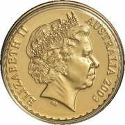 100 Dollars - Elizabeth II (4th Portrait - Royal Blue Bell - Gold Bullion Coin) – obverse