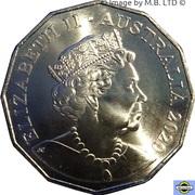 50 Cents - Elizabeth II (4th Portrait - Skippy - 50th Anniversary) -  obverse