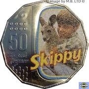 50 Cents - Elizabeth II (4th Portrait - Skippy - 50th Anniversary) -  reverse