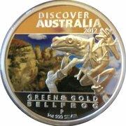 1 Dollar - Elizabeth II (4th Portrait - Discover Australia - Bellfrog) -  reverse