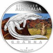 1 Dollar - Elizabeth II (4th Portrait - Discover Australia - Goanna) -  reverse