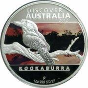 1 Dollar - Elizabeth II (4th Portrait - Discover Australia - Kookaburra) -  reverse