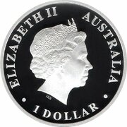 1 Dollar - Elizabeth II (4th Portrait - Discover Australia - Whale Shark) – obverse