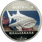 1 Dollar - Elizabeth II (4th Portrait - Discover Australia - Whale Shark) – reverse