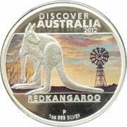 1 Dollar - Elizabeth II (4th Portrait - Discover Australia - Red Kangaroo) -  reverse