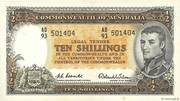10 Shillings (Reserve Bank) – obverse