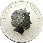 1 Dollar - Elizabeth II (4th Portrait - World Expo - Shanghai Cityscape) – obverse