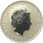 1 Dollar - Elizabeth II (4th Portrait - World Expo - Kookaburra Mascot) -  obverse