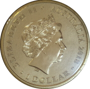 1 Dollar - Elizabeth II (4th Portrait - Lest We Forget - Red Poppy) -  obverse