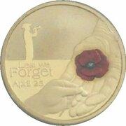 1 Dollar - Elizabeth II (4th Portrait - Lest We Forget - Red Poppy) – reverse