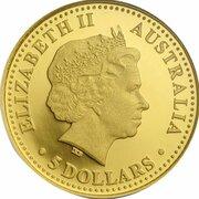 5 Dollars - Elizabeth II (4th Portrait - Koala - Gold Bullion Coin) -  obverse