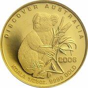 5 Dollars - Elizabeth II (4th Portrait - Koala - Gold Bullion Coin) -  reverse