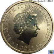 1 Dollar - Elizabeth II (4th Portrait - Bush Babies - Wombat) -  obverse