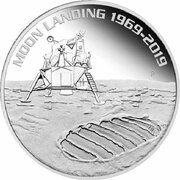 1 Dollar - Elizabeth II (6th Portrait - Moon Landing - Silver Bullion Coin) -  reverse