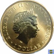 1 Dollar - Elizabeth II (4th Portrait - Rockets) -  obverse