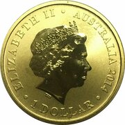 1 Dollar - Elizabeth II (4th Portrait - Kookaburra and Baby) -  obverse