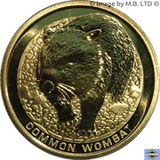 1 Dollar - Elizabeth II (4th Portrait - Common Wombat) -  reverse