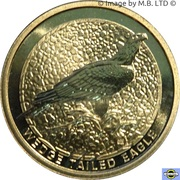 1 Dollar - Elizabeth II (4th Portrait - Wedge Tailed Eagle) -  reverse