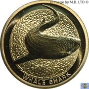 1 Dollar - Elizabeth II (4th Portrait - Whale Shark) – reverse