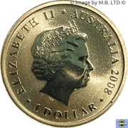 1 Dollar - Elizabeth II (4th Portrait - Green Turtle) -  obverse