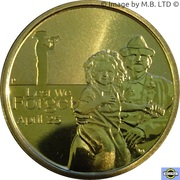 1 Dollar - Elizabeth II (4th portrait - Lest We Forget - Army) -  reverse