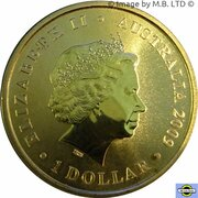 1 Dollar - Elizabeth II (4th Portrait - 200 Years of Postal Services in Australia) -  obverse