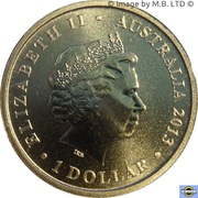 1 Dollar - Elizabeth II (4th Portrait - Bush Babies - Kookaburra) -  obverse