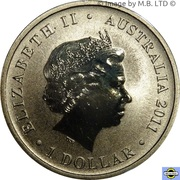 1 Dollar - Elizabeth II (4th Portrait - Royal Australian Navy 100th Anniversary) -  obverse