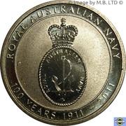 1 Dollar - Elizabeth II (4th Portrait - Royal Australian Navy 100th Anniversary) -  reverse