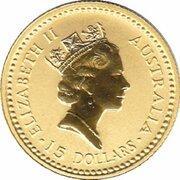 15 Dollars - Elizabeth II (3rd Portrait - Australian Nugget - Gold Bullion Coin) -  obverse