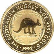 15 Dollars - Elizabeth II (3rd Portrait - Australian Nugget - Gold Bullion Coin) -  reverse