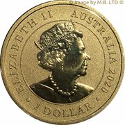 1 Dollar - Elizabeth II (6th Portrait - Navigating History - Endeavour) -  obverse