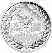 1 Dollar - Elizabeth II (6th Portrait - 75 Years End of WWII - Silver Proof) -  reverse