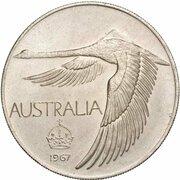 1 Dollar - (Swan/Goose Dollar - Pattern) -  reverse