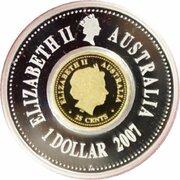 1.25 Dollars - Elizabeth II (3rd & 4th Portrait - Lunar New Year - Silver Gilt) -  obverse