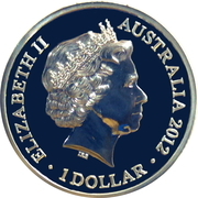 1 Dollar - Elizabeth II (4th Portrait - Machin Effigy - Silver Gem-Proof) -  obverse