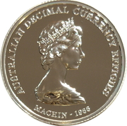 1 Dollar - Elizabeth II (4th Portrait - Machin Effigy - Silver Gem-Proof) -  reverse