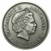 10 Dollars - Elizabeth II (4th Portrait - Evolution of Time - Silver Bullion Coin) – obverse