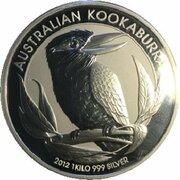 30 Dollars - Elizabeth II (4th Portrait - Kookaburra - Silver Bullion Coin) -  reverse