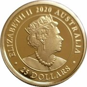25 Dollars - Elizabeth II (6th Portrait - 165th Anniversary of the Sovereign) -  obverse