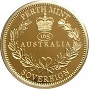 25 Dollars - Elizabeth II (6th Portrait - 165th Anniversary of the Sovereign) -  reverse