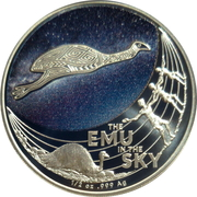 1 Dollar - Elizabeth II (6th Portrait -  Star Dreaming - Emu in the Sky) -  reverse