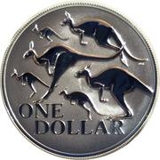 1 Dollar - Elizabeth II (6th Portrait - Red Kangaroo) -  reverse
