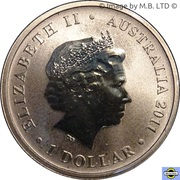 1 Dollar - Elizabeth II (4th Portrait - Bush Babies - Sugar Glider) -  obverse